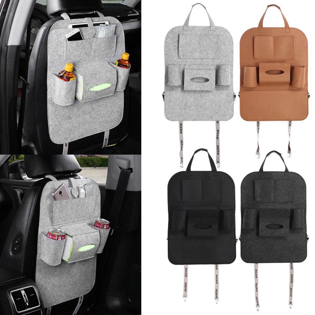 Car Auto Seat Back Multi-Pocket Storage Bag Organizer Holder Hanger Travel Storage Box Free Shipping(China (Mainland))