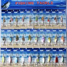 Metal Sheetmetal Lures Set 30x Spinnerbait Fishing Hard Lure Pike Salmon Bass Card 2 Fish Bait Hook Fishing Tackle spinners(China (Mainland))