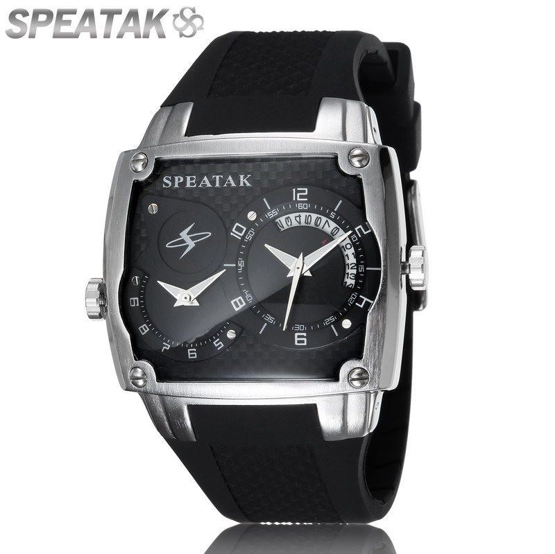Free Shipping New 2015 Sport Brand double movement  Watch Fashion Casual Rubber Silicone Women Watches Men Quartz Wristwatches<br><br>Aliexpress