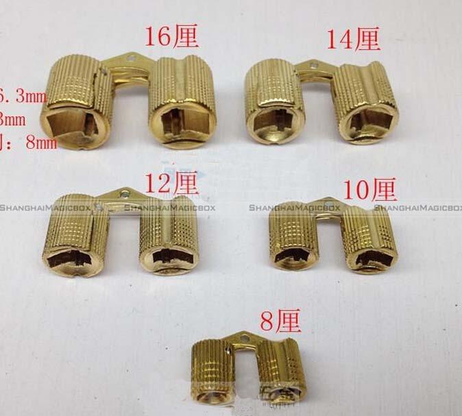 Shanghaimagicbox 4x Brass Barrel Hinge Invisible Hinge Concealed Hinge for Caravan Worktops 10mm 40914309(China (Mainland))