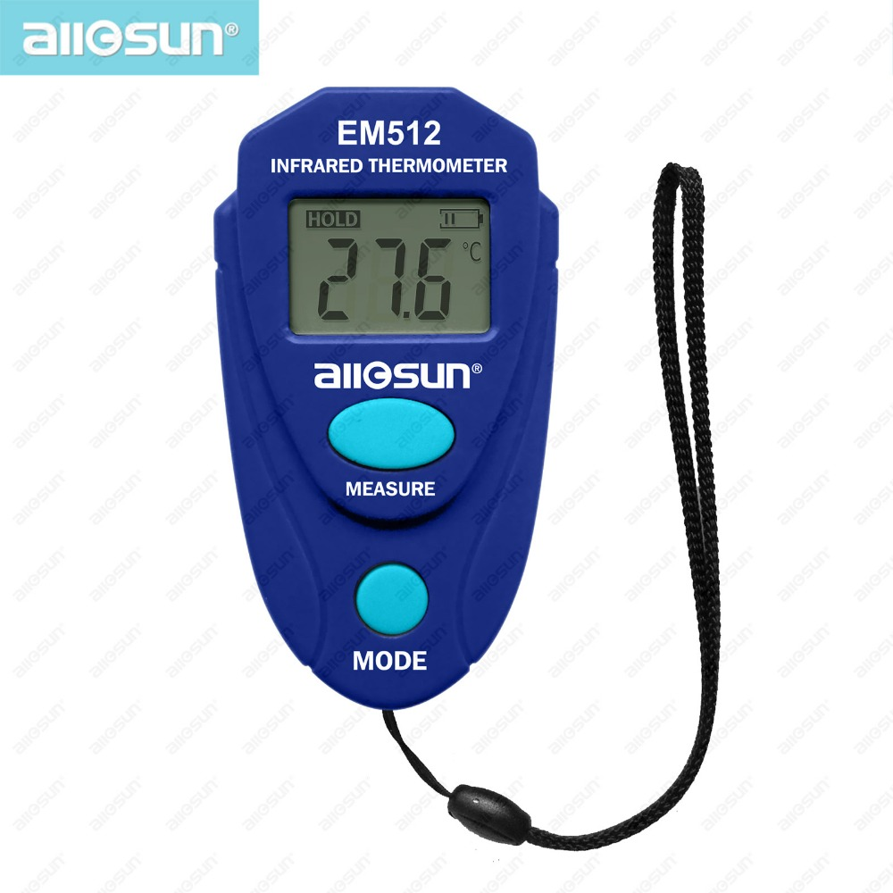 Digital LCD Non-contact Infrared Thermometer Handheld Thermo-hygrometer Mini Temperature Measurement Distance Spot em512 all-sun(China (Mainland))