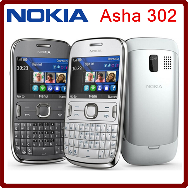 ASHA 302 Original Unlocked Nokia Asha 302 3G network GSM WIFI Bluetooth JAVA 3.15MP Camera Mobile Phone one year warranty(China (Mainland))
