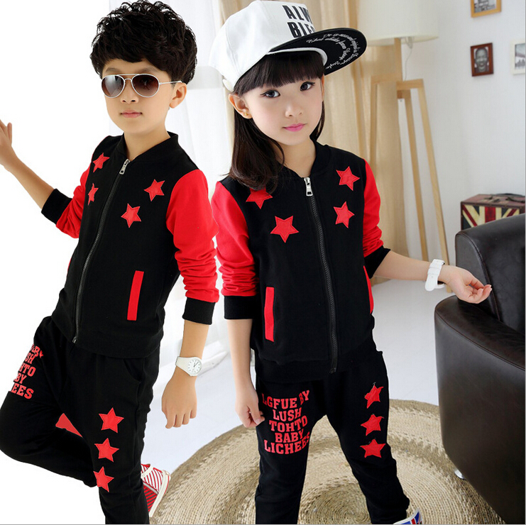 Baby Boys Spring Autumn Sports Suit 2 pieces Set font b Girls b font Tracksuits Kids