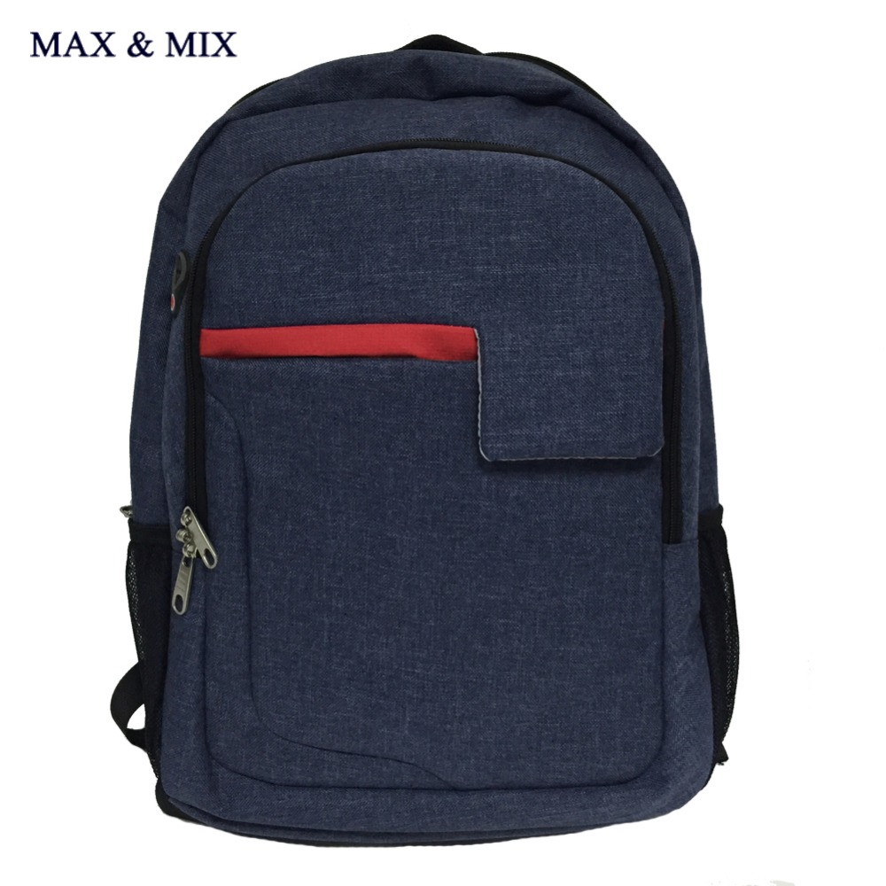 MAX&MIX 2017 Brand Male Female Fashion Laptop Backpack Student School Backpack Bag Computer Suitable Men Business Organizer(China (Mainland))