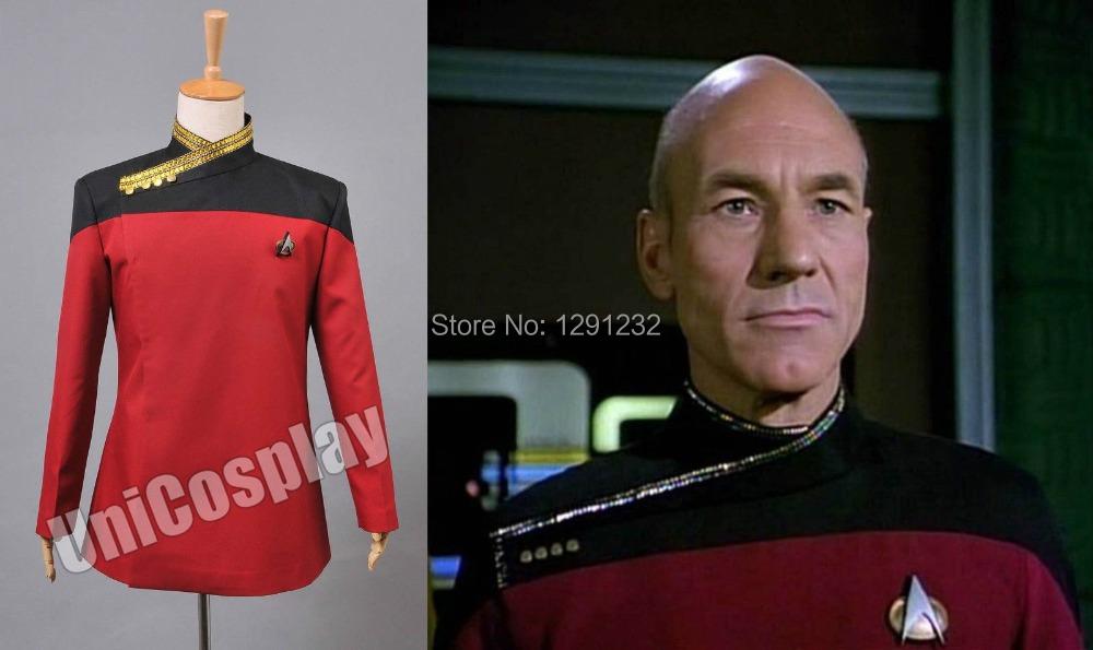 Star Trek TNG Picard Uniform Costume Red Одежда и ак�е��уары<br><br><br>Aliexpress