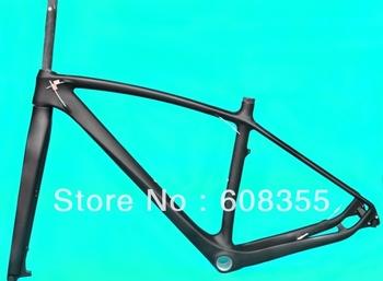 """FR217 Full Carbon Matt 29ER mtb Mountain Bike Frame ( bsa ) + fork size : 17"""" , 19"""""""
