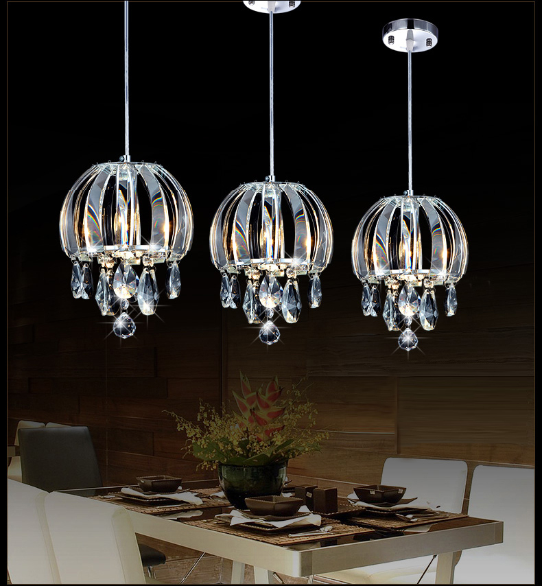 Modern pendant lamp crystal kitchen pendant lighting for Modern island pendant lighting