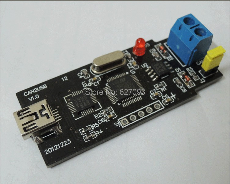 Free shipping CAN Bus Analyzer USB to CAN USB-CAN debugger / adapter / communication / converter +USB cable support WINXP/Win7(China (Mainland))