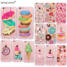 Buy Rainbow Color Food Donuts Macaron Phone Cases iphone 7 6 6S 5 5S SE 5C 6Plus 6SPlus 4 4S Silicone Case Cover iphone for $1.39 in AliExpress store