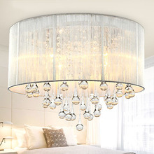 Hot! Free Shipping LED Crystal Ceiling Light AC90-260V  E14 Light Source Bed Room/Dining Room Ceiling Lamp(China (Mainland))