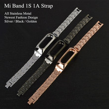 Xiaomi Mi Band 1S Metal Strap For Original Xiaomi Miband 1S 1A Smart Bracelet Wrist Band Silver Black Golden Color
