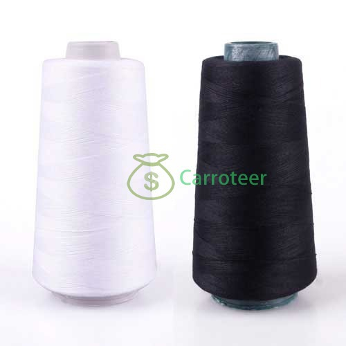 Carroteer Shop 3000M Yards Overlocking Sewing Machine Industrial Polyester Thread Metre Cones(China (Mainland))
