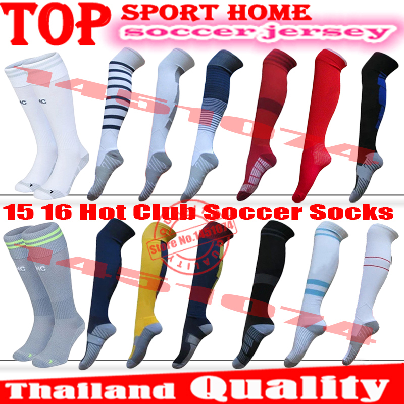 Thai quality 2016 Fans articles Football soccer sock long cylinder thick towel bottom player male sweat sports socks Stockings(China (Mainland))