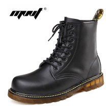 Fashion Men Winter Leather Snow Boots High Top Dr.Ma Winter Boots Men And Women Ankle Boots Plus Size Unisex Boots Have Logo(China (Mainland))