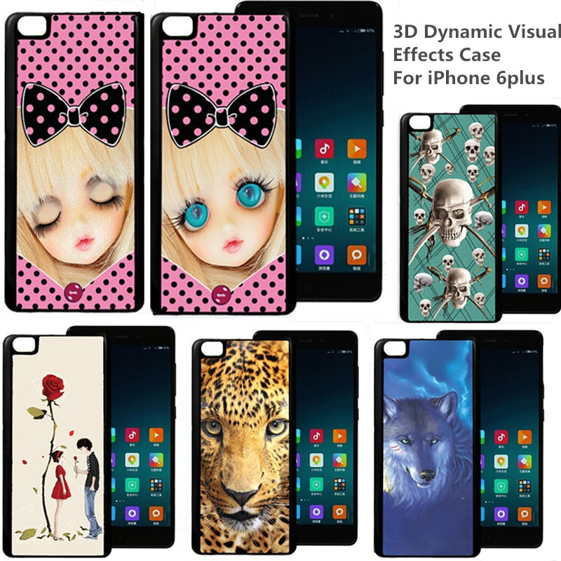 Luxury 3D Dynamic Visual Effects Image Phone Cases For iPhone 6plus Case Hard Cover(China (Mainland))