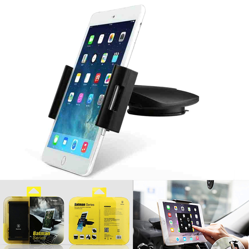 Universal Car Holder for iPad Tablet PC+ Black tablet PC stand+360-degree swivel bracket(China (Mainland))
