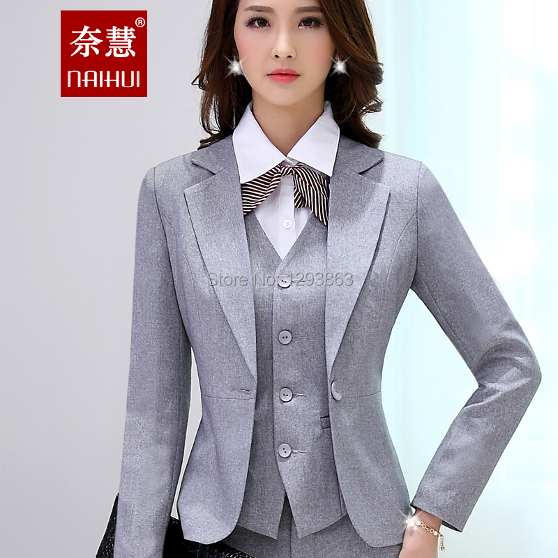 Creative Pants Power Suit Womens Suit Grey Pants Office Outfits Streetstyle Vest Grey Vest Blazer ...