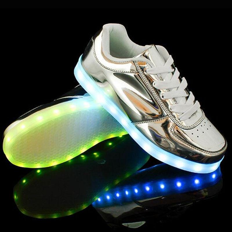 2015 New LED Light Men Shoes For Adults Men & Women USB Charging LED Lights Emitting Luminous Glowing Shoes, Plus Size 35-46