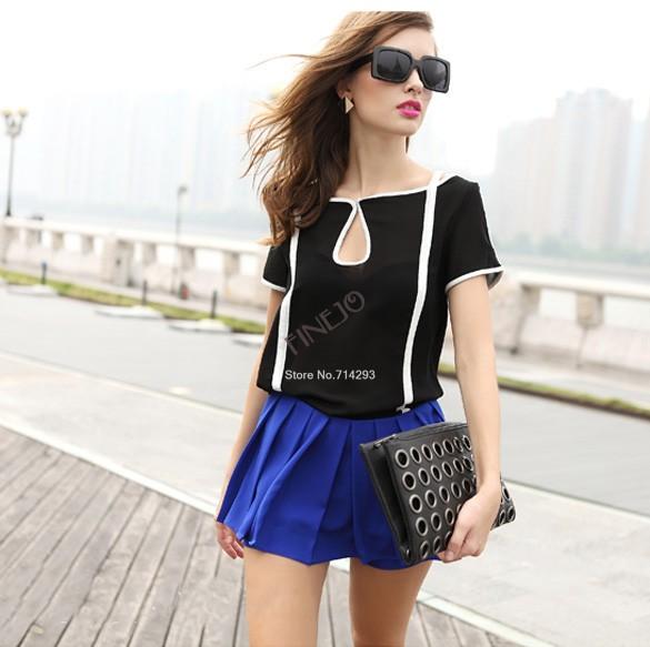 Блузка с коротким цельнокроеным рукавом доставка