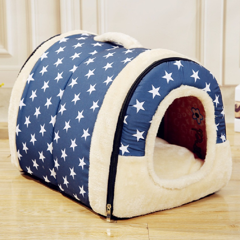 Hot!!!Multifuctional Dog House Nest With Mat Foldable Pet Dog Bed Cat Bed House For Small Medium Dogs Travel Pet Bed Bag Product(China (Mainland))