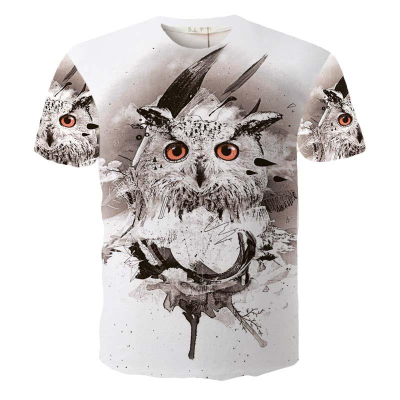 XQ0067 New Fashion Mens T-shirt Summer Style Printed 3D Animals Shirt Men 3D Shirt Men Clothes Tops Tees(China (Mainland))