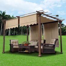2pcs 15.5x4Ft Pergola Canopy Replacement Cover Tan UV30 200g & Valance(China (Mainland))