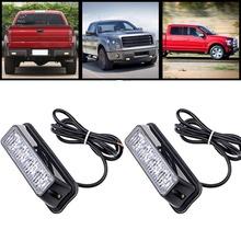 High Quality 4 LED Car Emergency Beacon Light Bar 12 Flashing Mode 4W 12V led Strobe