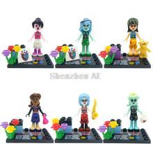Beautiful Girl Minifigures 6pcs/lot Building Blocks Sets Model Classic Figure Bricks Educational Toys For Children