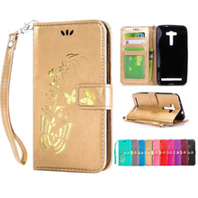 Fashion Hot stamping butterfly pattern Wallet flip Stand cover case ASUS Zenfone 2 laser ZE550KL Mobile Phone Coque Funda - Roar Korea Store store
