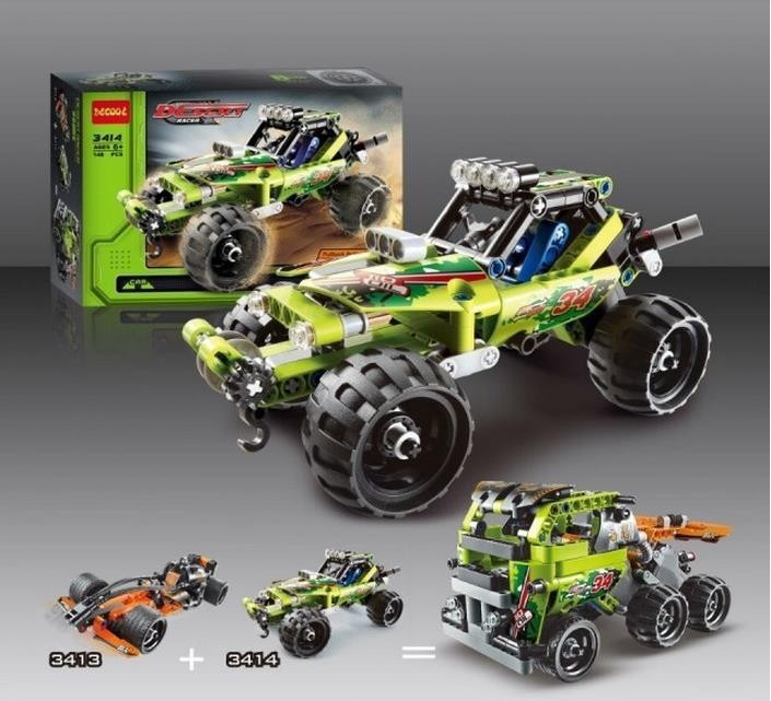High Technic 2 in 1 warrior off-roader racer Car Model 3D building set sports car brick toys Christmas Children Kids Gifts(China (Mainland))