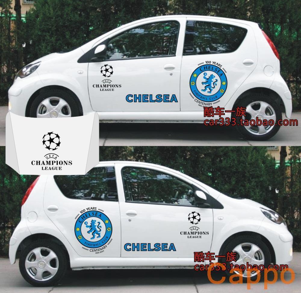 Champions League team Chelsea F0 car stickers car stickers full vehicle pull flower stickers <br><br>Aliexpress