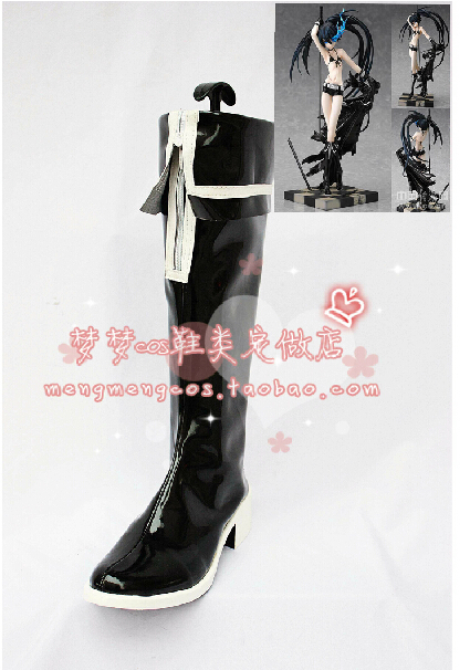 Black Rock Shooter BRS Cosplay Shoes Anime Party Boots<br><br>Aliexpress
