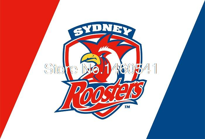 Sydney Roosters Flag 3ft x 5ft National Rugby League NRL Banner Size 4 144* 96cm Flag(China (Mainland))