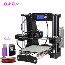 2016 Latest Cheap High Quality Full Acrylic Frame Anet A6 3D Printer Kit Reprap Prusa i3 DIY 16GB SD card & LCD&1 roll coil Gift