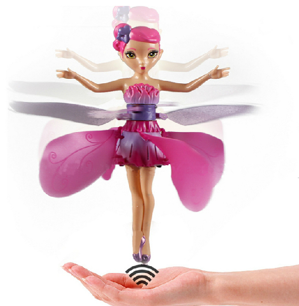 free shipping Toys Flying Angel Fairy Infrared Induction Control Flying Doll Electric toys qiandi(China (Mainland))
