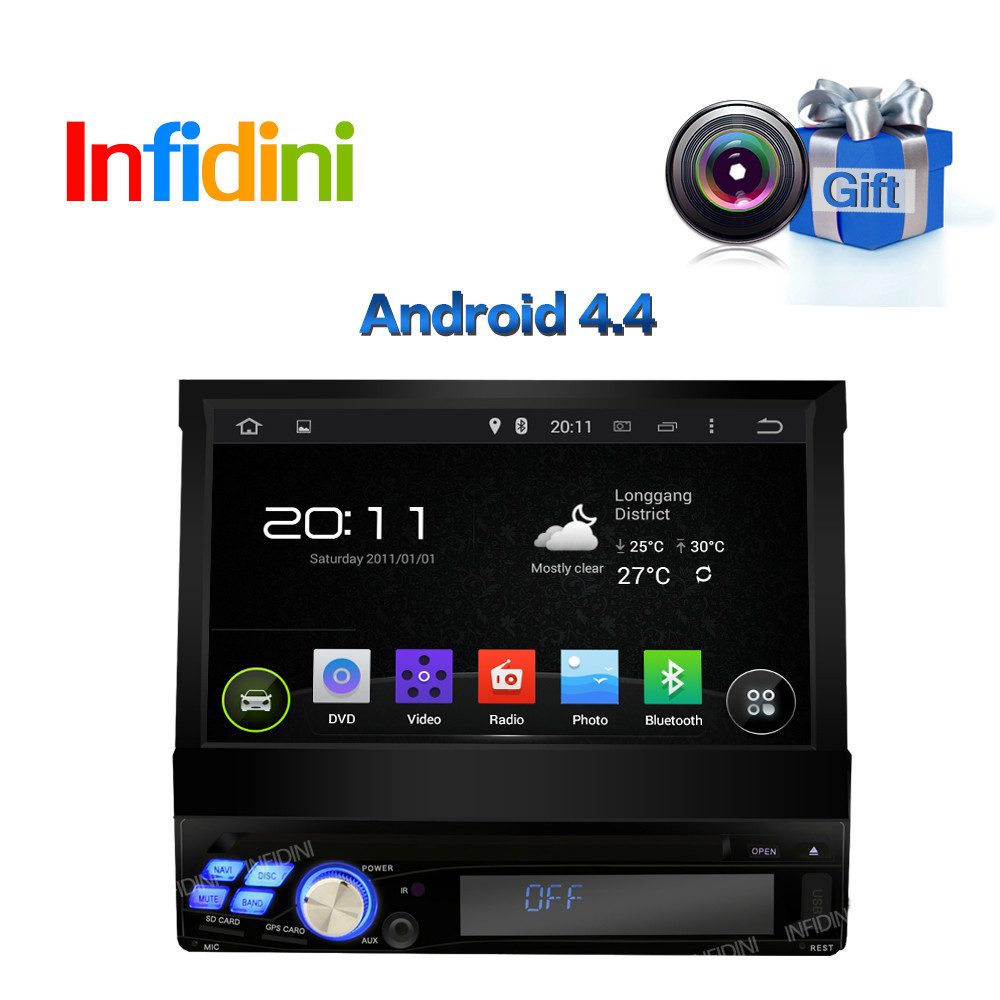 1 DIN Car DVD Player Universal GPS with Dual core CPU Android 4.4.4 System WIFI 3G GPS Capacitive screen car stereo radio dvd(China (Mainland))