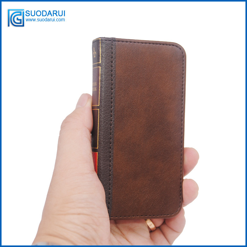 Retro Bible Vintage Flip Leather Case For iphone 5 5s 5se 5c 6 6plus 7 7plus Book Wallet Pouch With 2XLCD Screen Protector