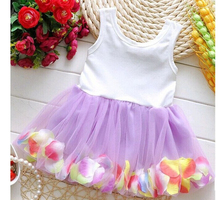 100pcs/lot Chiffon Colorful Dress for Babies