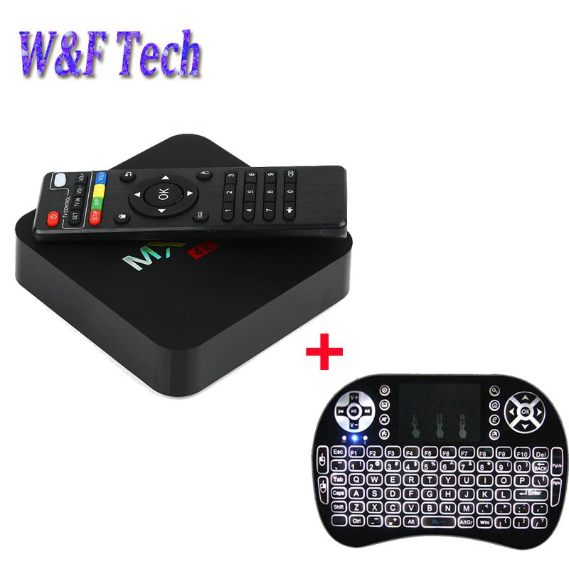 5pcs/lot Android 5.1 Smart tv box MX PRO Amlogic S905 quad core 1gb 8gb media player with 5pcs i8+ backlight wireless keyboard(China (Mainland))