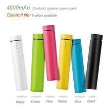 New 4000mAh Bluetooth Speaker Power Bank Portable Mini pc Speaker Loudspeaker Rechargeable Battery for iphone xiaomi & tablets