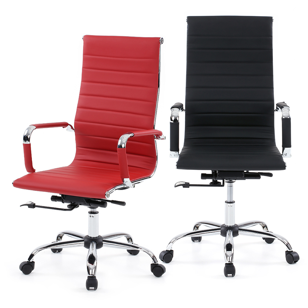 US Stock Brand IKAYAA PU Leather Office Chair Stool Adjustable Swivel High Back Computer Task Office Furniture Silla Ooficina(China (Mainland))