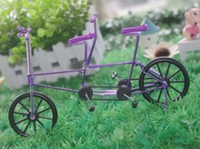 Two-seater bike,Creative, wrought iron handicrafts, souvenirs crafts tandem bicycle model(China (Mainland))