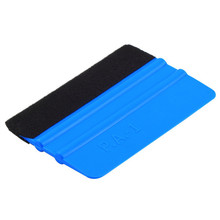 New 1Pcs Squeegee Car Film Tool Vinyl Blue Plastic Scraper Squeegee With Soft Felt Edge Window Glass Decal Applicator(China (Mainland))