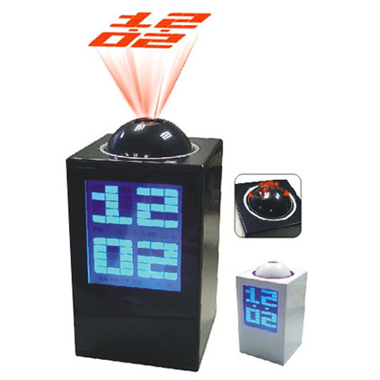 LED projection clock music alarm clock silent creative fashion gift creative alarm clock free shipping(China (Mainland))