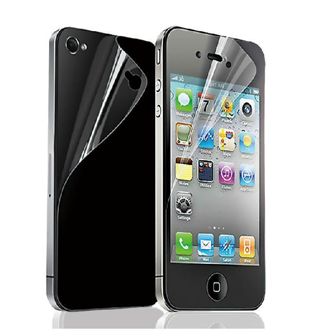 LCD Clear Front and Back Screen Protector for iPhone 4s and Screen Protector for iPhone 4