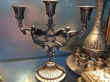 Church classical Russian candlestick angel statue of the virgin European three menorah candle light dinner wedding items(China (Mainland))