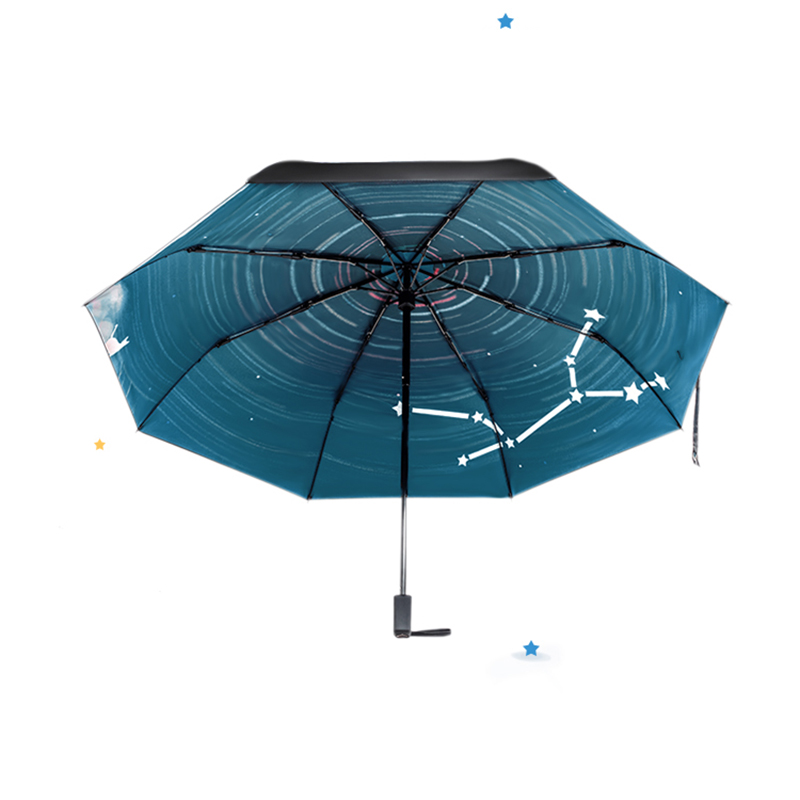 Movie Big Fish & Begonia Printing Women Lady Rain And Sun Umbrella 3  Folding 8 Ribs Sunshade UV-resistant Umbrellas Guarda Chuva - us212