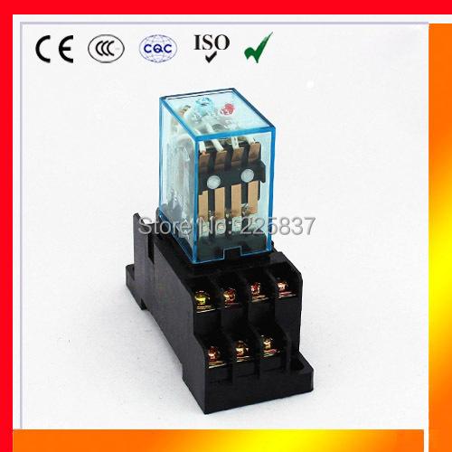 HH54P (3set/lot) good quality relay my4 my4nj rele 48vdc 12v ac 24V 110V 220v 5A 14pins power relay with socket<br><br>Aliexpress