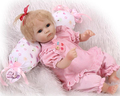 Lovely like real pink slicone baby reborn doll toy play house toys for kid girl brinquedos