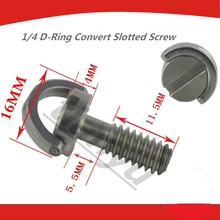 High Quality Sliver 1/4 D-Ring Screw Stainless Steel For Camera Tripod Monopod Quick Release Plate Electronics Accessories